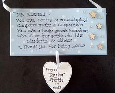 Personalised Special Teacher Thank You Plaque, D3, For being you, College Student, Student Nurse, Leaving Gift, Graduation, Custom Sign
