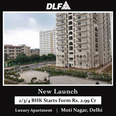 A new ready to move dlf apartments at different Phases 1, 2 & 3 are available for sale at best prices. These new 2/3/4 BHK luxury residential apartments are located on Shivaji Marg in Moti Nagar, Delhi nearby Shadipur Metro Station. For more details, Kindly Call us on +91 90158-99999 #dlfapartmentsmotinagar #dlfmotinagar #dlfmotinagarprice #dlfmotinagar2bhkprice #dlfmotinagar3bhkprice #dlfmotinagar4bhkprice Luxury Apartments, Luxury Homes, Metro Station, Luxurious Homes, Luxury Houses, Apartments, Luxury Living