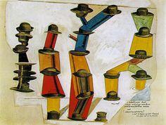 'der hut `makes` der mann', collage von Max Ernst (1891-1976, Germany)