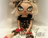 Anoushka Madrass, Collectable Animal Print Art Doll by Lesley Jane Dolls