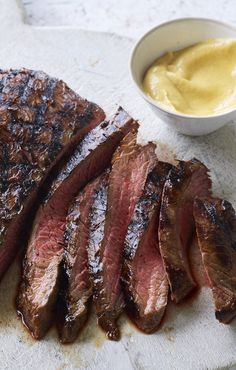 "Bavette is the external part of the skirt and all you need to do to cook it is, as my butcher puts it, ""sear the hell out of it and serve it rare"". Steak Recipes, Cooking Recipes, Tamarind Recipes, Honey And Soy Sauce, Nigella Lawson, Skirt Steak, Beef Dishes, Food Inspiration, Love Food"