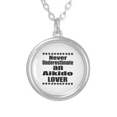 Never Underestimate Aikido Lover Silver Plated Necklace - jewelry jewellery unique special diy gift present