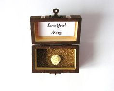 Wood Box Love You Custom Gift Handpainted Trunk by LovingCorner, $22.50