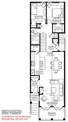 Narrow two story house plans google search dream house pinterest 2 house and search - Narrow house plans for narrow lots pict ...