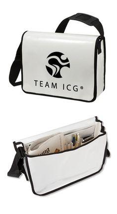 Team ICG Lorry Bag: Tolle Umhängetasche aus LKW-Plane für Arbeit, Urlaub und Sport!