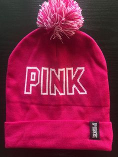 77bed478dcc BRAND NEW Victoria s Secret PINK Hot Pink Beanie  fashion  clothing  shoes   accessories  womensaccessories  hats (ebay link)