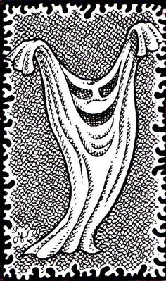 """oldschoolfrp: """" The sheet phantom, because you've already gone through the thesaurus and created different stats for every known synonym of """"ghost"""". (Alan Hunter, from AD&D Fiend Folio, TSR, 1981.) """" Spoopy"""