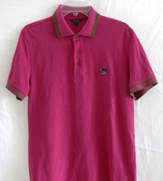 Men's FACONNABLE Polo Shirt Short Sleeve Shirt Size M 100% Cotton #Faconnable #PoloRugby