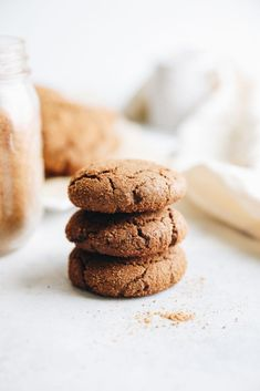 A recipe for healthier ginger molasses cookies, made with unrefined coconut sugar, light on butter and an optional gluten-free flour substitution. The Healthy Maven, Ginger Molasses Cookies, Winter Food, Holiday Recipes, Winter Recipes, Christmas Treats, Desserts, Holidays, Adhd