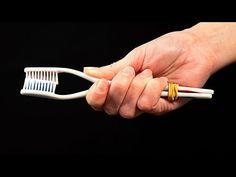 Nevěřili byste, že 2 svázané staré zubní kartáčky dokáží takové věci!| Perfektní - YouTube Creative Home, Trees To Plant, Cleaning, Tableware, Youtube, Kitchen, Crafts, Manualidades, Ideas