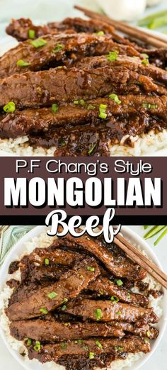 Easy Mongolian Beef Recipe (P. My kids BEG for this Mongolian Beef at our house. Every time we crave Chinese Food this is our go to dinner! Changs has nothing on this easy recipe!) The steak is super tender and it is so easy Homemade Chinese Food, Easy Chinese Recipes, Asian Recipes, Easy Dinner Recipes, Easy Meals, Good Chinese Food, Mongolian Beef Recipe Pf Changs, Easy Mongolian Beef, Mongolian Beef Recipes