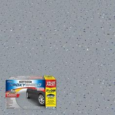 Gray High-Gloss Epoxy Garage Floor Coating Kit - The Rust-Oleum EpoxyShield 2 Gal. Gray High-Gloss Epoxy Garage Floor Coating Kit is easy to - Rustoleum Garage Floor Epoxy, Epoxy Garage Floor Coating, Garage Epoxy, Garage Floor Paint, Garage Floor Coatings, Concrete Garages, Epoxy Floor, Concrete Floors, Best Garage Floor Epoxy