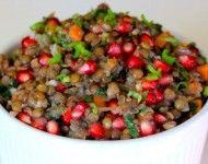 Lentil salad with pomegranate