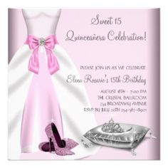 Fancy Quinceanera Party Invitations