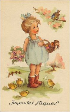 images about Easter Parade on Old Fashioned Easter Gifts Classic Easter images about Vintage Easter Postcards & Images on. Images Vintage, Vintage Pictures, French Vintage, Images Victoriennes, Easter Illustration, Book Illustration, Pintura Country, Vintage Children's Books, Vintage Greeting Cards