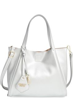 POVERTY FLATS by rian 'Mini Sport' Faux Leather Shopper available at #Nordstrom