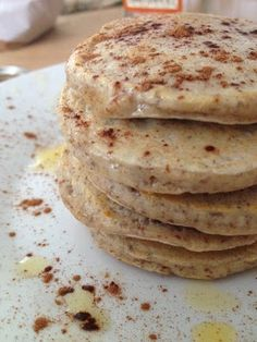 Ripped Recipes - Paleo Cinnamon Coconut Pancakes - These pancakes are both paleo and ultra low carb. They are excellent topped with extra cinnamon, maple syrup, honey, or a little grassfed butter. Enjoy!