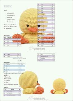Amigurumi Ördek Crochet Birds, Easter Crochet, Cute Crochet, Crochet Baby, Crochet Amigurumi Free Patterns, Crochet Doll Pattern, Crochet Chart, Knitted Dolls, Crochet Dolls