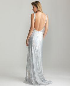 Black Sequin Beaded V Neck Open Back Prom Dress - Unique Vintage - Prom dresses, retro dresses, retro swimsuits.