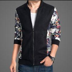 5XL floral bomber jacket black for teens woolen coat