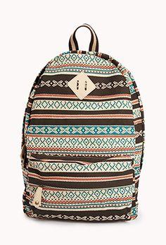 Southwestern Canvas Backpack | FOREVER21 - 1059216810