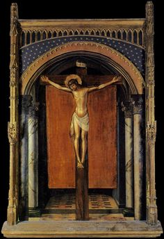 PEDRO BERRUGUETE Cristo en la Cruz. Gótico Castellano, fines XV.