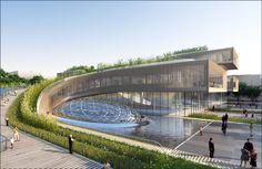 Città della Scienza Masterplan Predicts Future of Self-Sustaining Cities,Courtesy of Vincent Callebaut Architecture