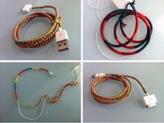 make friendship bracelets for your tech cords....