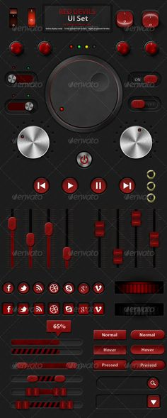 Red Devils - Retina User Interface Kit  http://graphicriver.net/item/red-devils-retina-user-interface-kit/3065092?ref=xwisnux