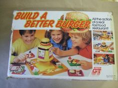 BUILD A BETTER BURGER - VINTAGE FAST FOOD TOY GAME