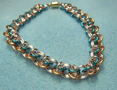 Rhinos Snorting Drano Bracelet tutorial at chainmaillejewelrypatterns.com