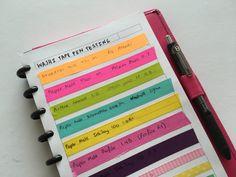 Setting up a new planner: 70 Tasks to add - All About Planners Planner Tips, Planner Supplies, Planner Layout, Life Planner, Color Coding Planner, Bullet Journal Hacks, Bullet Journals, Rag Rug Tutorial, Discbound Planner
