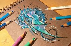 Love the colors of this dragon....by Alvia Alcedo