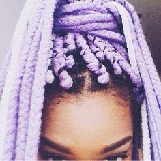 Lilac yarn braids #fauxlocsbyretii #dallasbraider #dentonbraider #yarnbraids #boxbraids #lilacbraids #lavenderbraids #colorfulbraids #naturalhair #naturallshesdope #proctivestyles