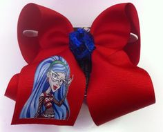 Large red monster high bow