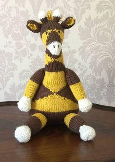 Handknitted Giraffe  Plushy Handmade soft toy Soft Knitted