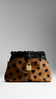 18f8dff54c3df The Little Crush in Heart Print Calfskin and Leather - Lyst Burberry