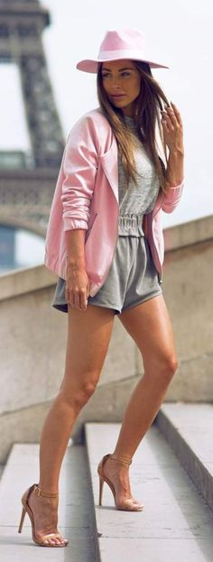 788a2d9967612 Grey And Pink Relax Chic Style by Johanna Olsson. Elyse Magazine