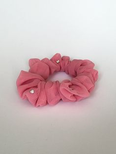hair tie hair band top knot Blush scrunchie easter basket hair stylist spring scrunchie hair accessories gifts for her