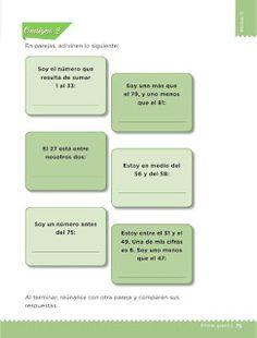 Apoyo Primaria Desafíos Matemáticos 1er Grado Bloque 4 Leccción 40 Adivina los números