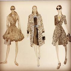 Painting & Drawing, Artworks, Dresses With Sleeves, Long Sleeve, Illustration, Collection, Fashion, Moda, Sleeve Dresses