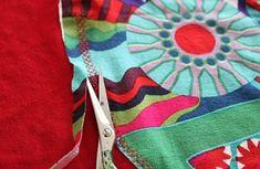 tunique en jersey: point de recouvrement à la machine à coudre - overlock jersey with sewing machine