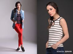 #RemeraZephyr #Exclusiva #Rayas #Lágrima Female Clothing, Stripes, Spring Summer, Blouses, Style, Women