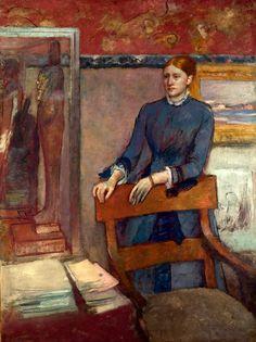 Edgar Degas (1834 - 1917) Helene Rouart in her Father's Study - 1886, oil. National Gallery London.