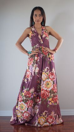 Boho Dress / Summer Maxi Dress - Flower dress : Classy Vintage Collection No.2 on Etsy, $65.44 CAD