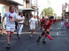 The Running Of the Bulls Gone Rollergirl In New Orleans