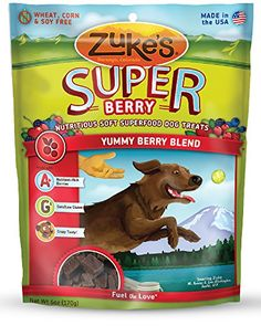Zukes Super Dog Treats Yummy Berry Blend 6Ounces -- Check out the image by visiting the affiliate link Amazon.com on image.