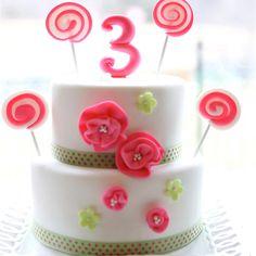 Girls third birthday cake