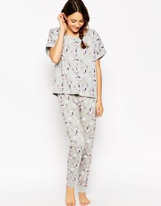 c2bf1086b3 ASOS  Im Unreal  Unicorn Tee   Legging Pyjama Set at asos.com