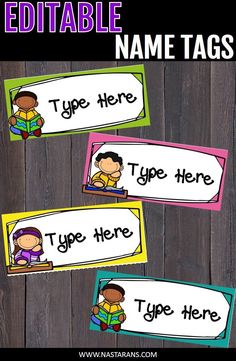 Check out these editable labels.You can use these labels for student folders, library, or name tag for the first day of school. These editable name tag are also great for word walls, desk name tags, labels, or flash cards for your kids. #nametag#editablelabels